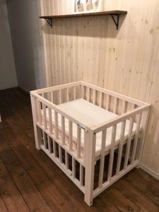 ベビーベッド 無料貸し出し 自然塗料 赤ちゃんにも安心